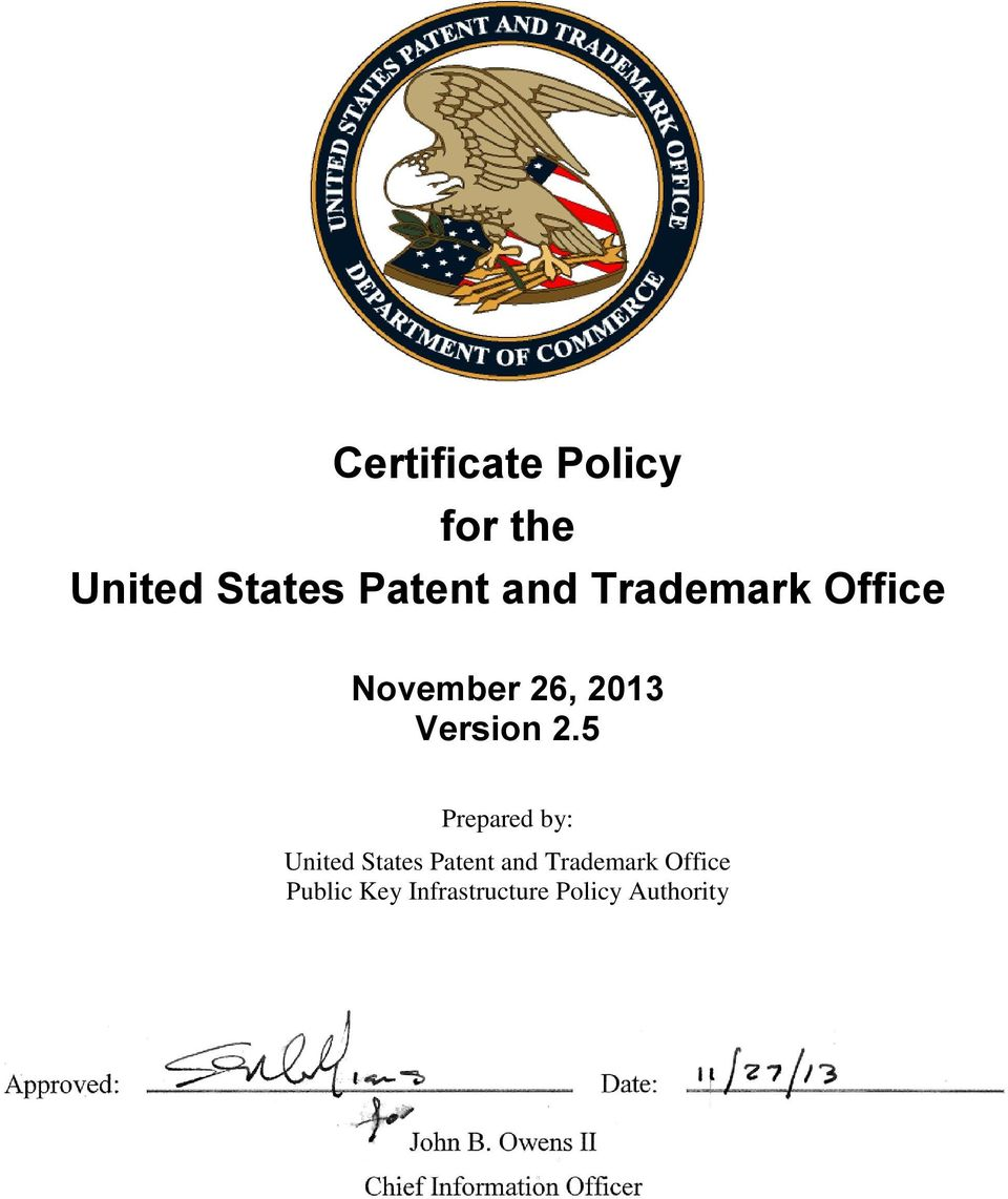 Prepared by: United States Patent and