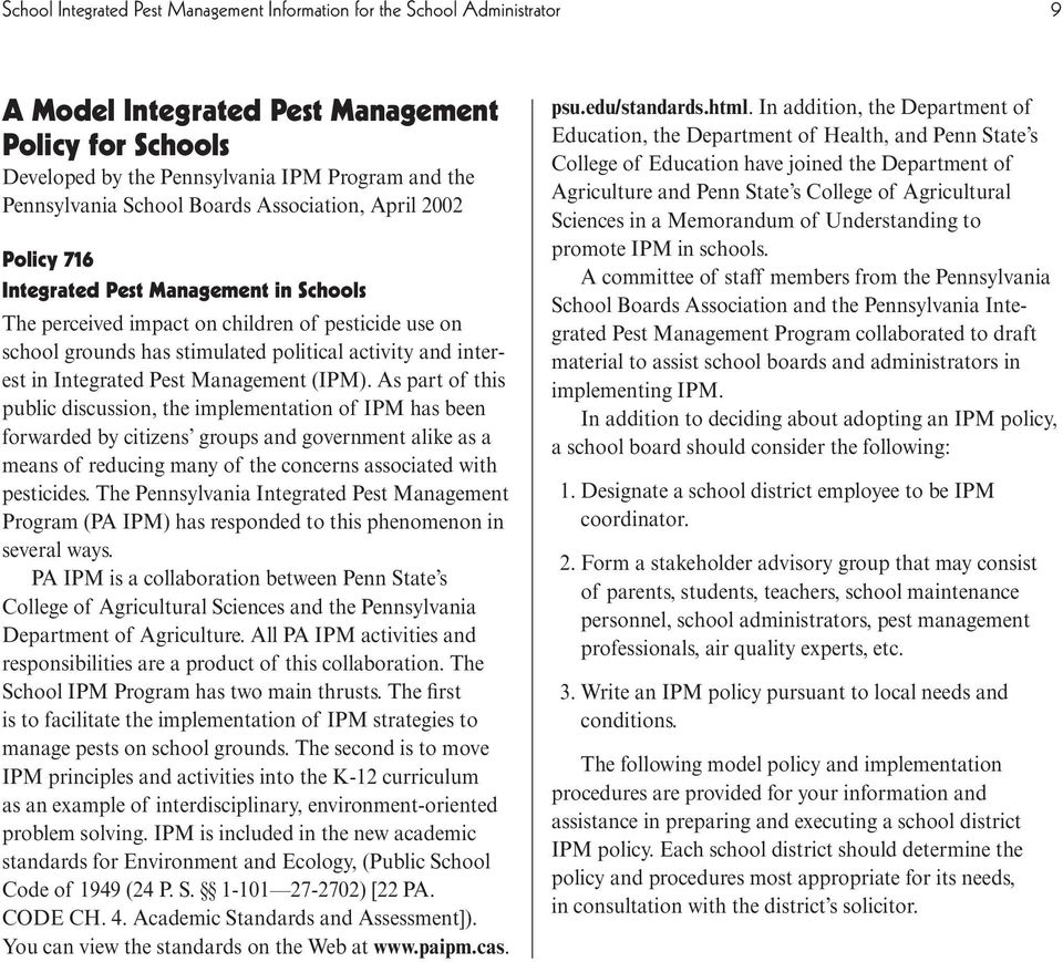 Integrated Pest Management (IPM).
