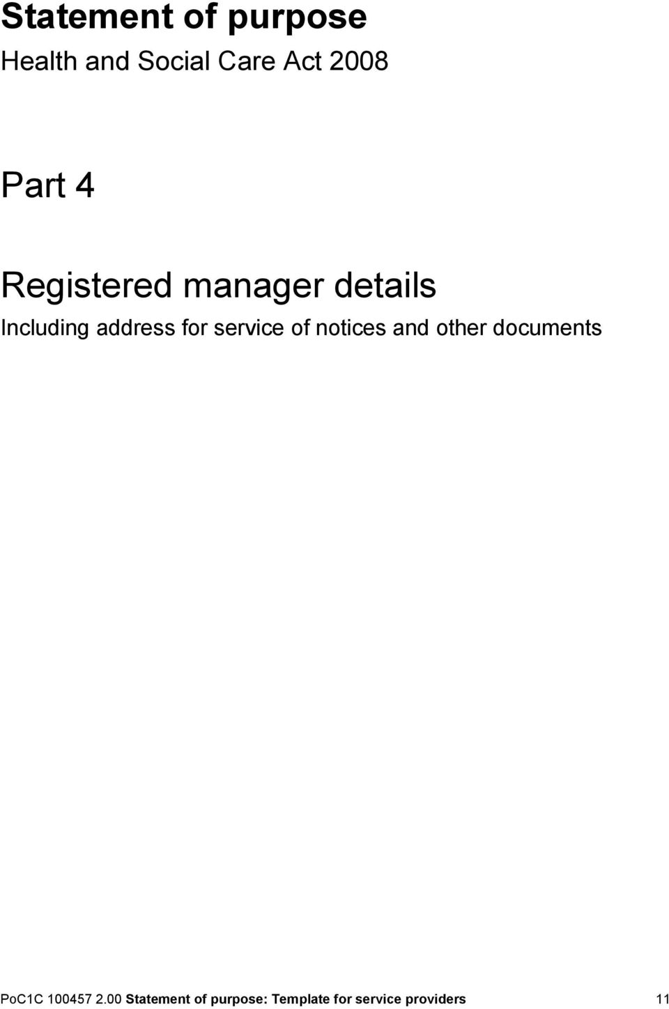 service of notices and other documents PoC1C 100457 2.