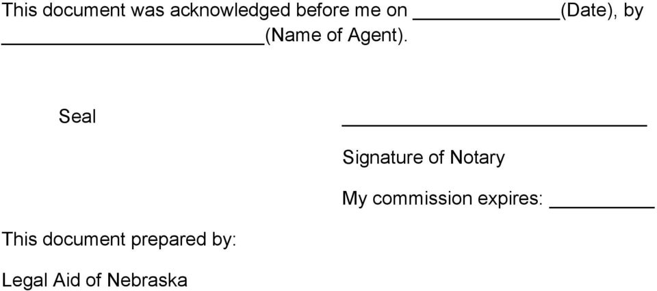 Seal Signature of Notary My commission