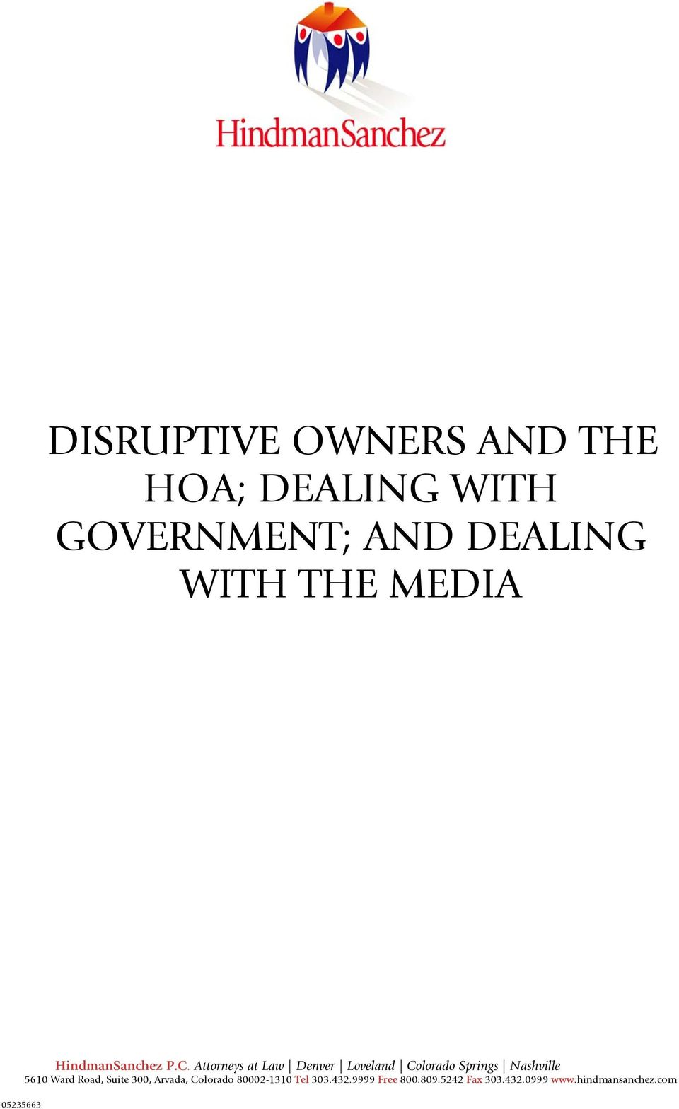 WITH GOVERNMENT; AND