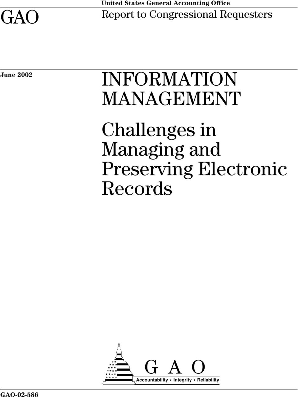 INFORMATION MANAGEMENT Challenges in Managing