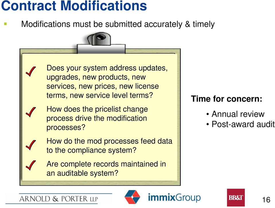 How does the pricelist change process drive the modification processes?