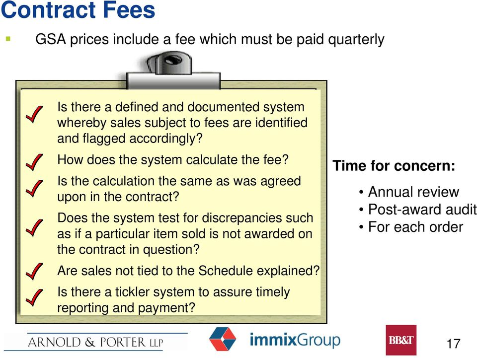 Does the system test for discrepancies such as if a particular item sold is not awarded on the contract in question?