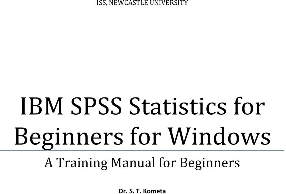 for Windows A Training Manual