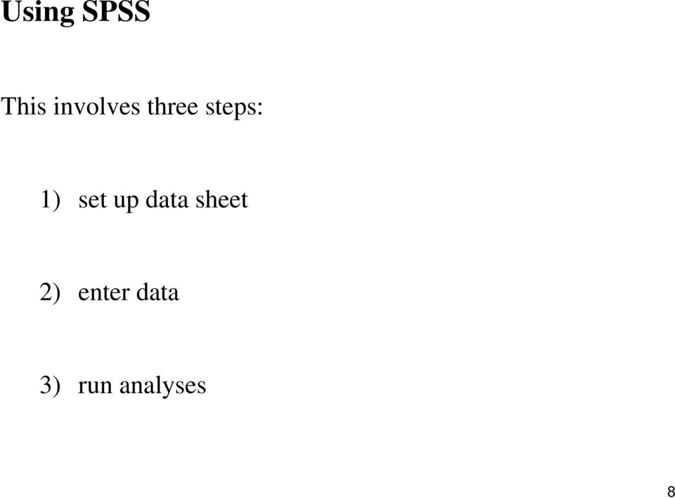 1) set up data sheet