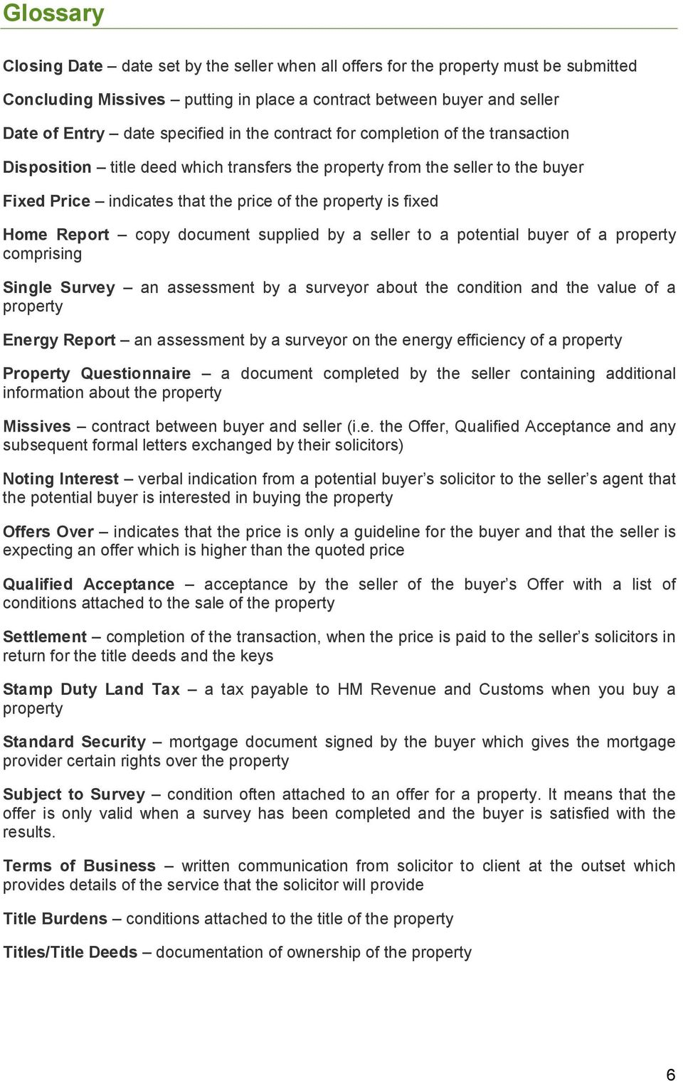 Report copy document supplied by a seller to a potential buyer of a property comprising Single Survey an assessment by a surveyor about the condition and the value of a property Energy Report an