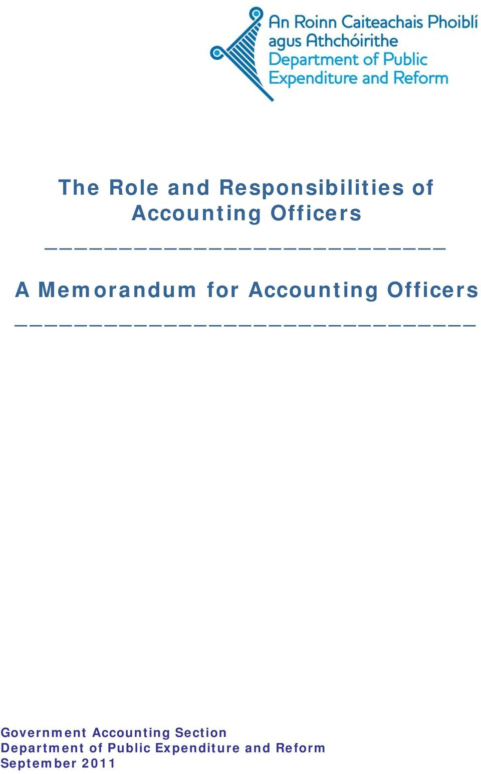 Officers Government Accounting Section