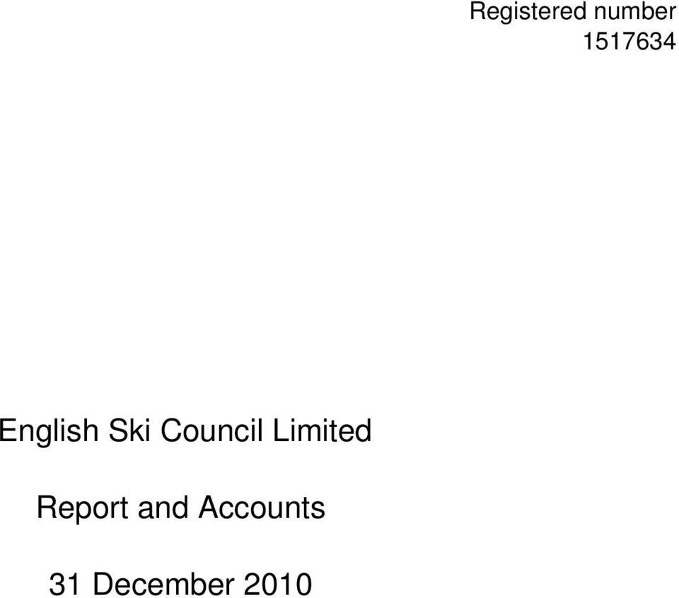 Council Limited Report