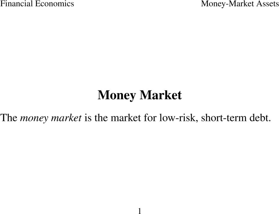 the market for