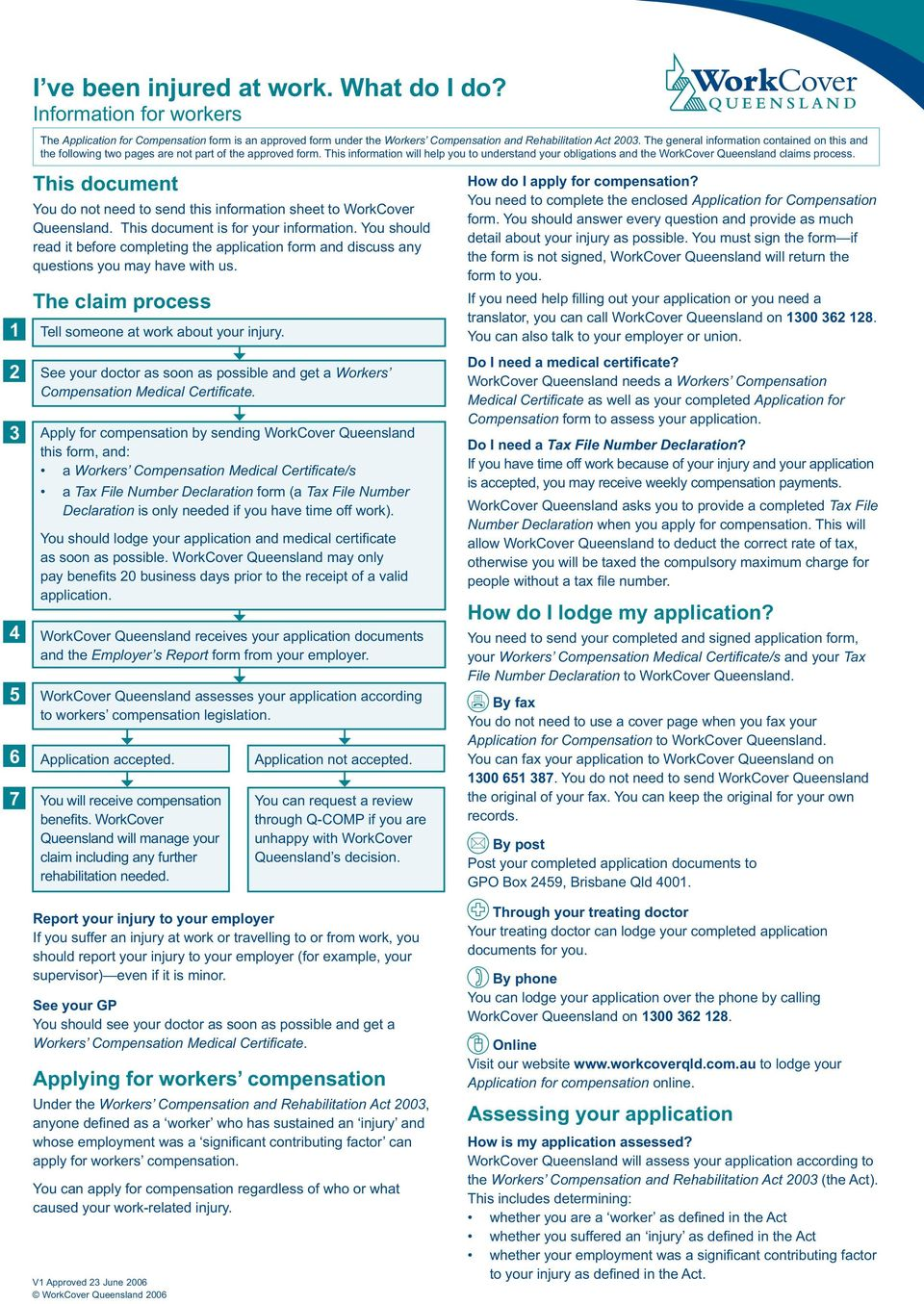 This information will help you to understand your obligations and the WorkCover Queensland claims process.