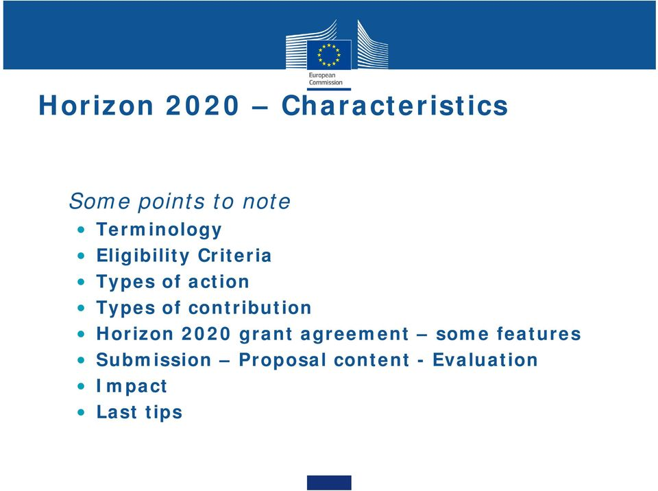 of contribution Horizon 2020 grant agreement some