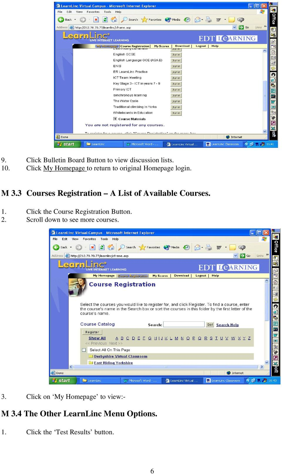 3 Courses Registration A List of Available Courses. 1.