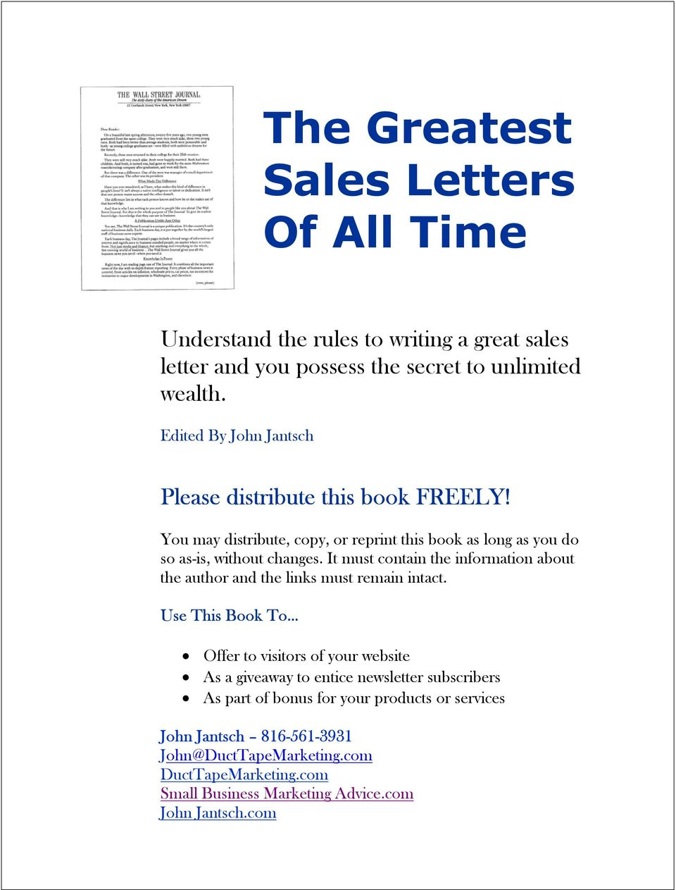 The Greatest Sales Letters Of All Time Pdf