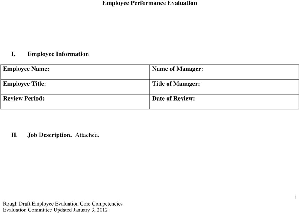 Title: Review Period: Name of Manager: Title
