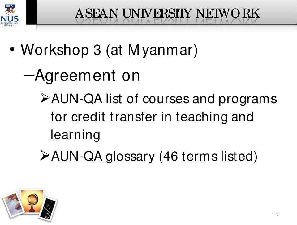 and programs for credit transfer in teaching