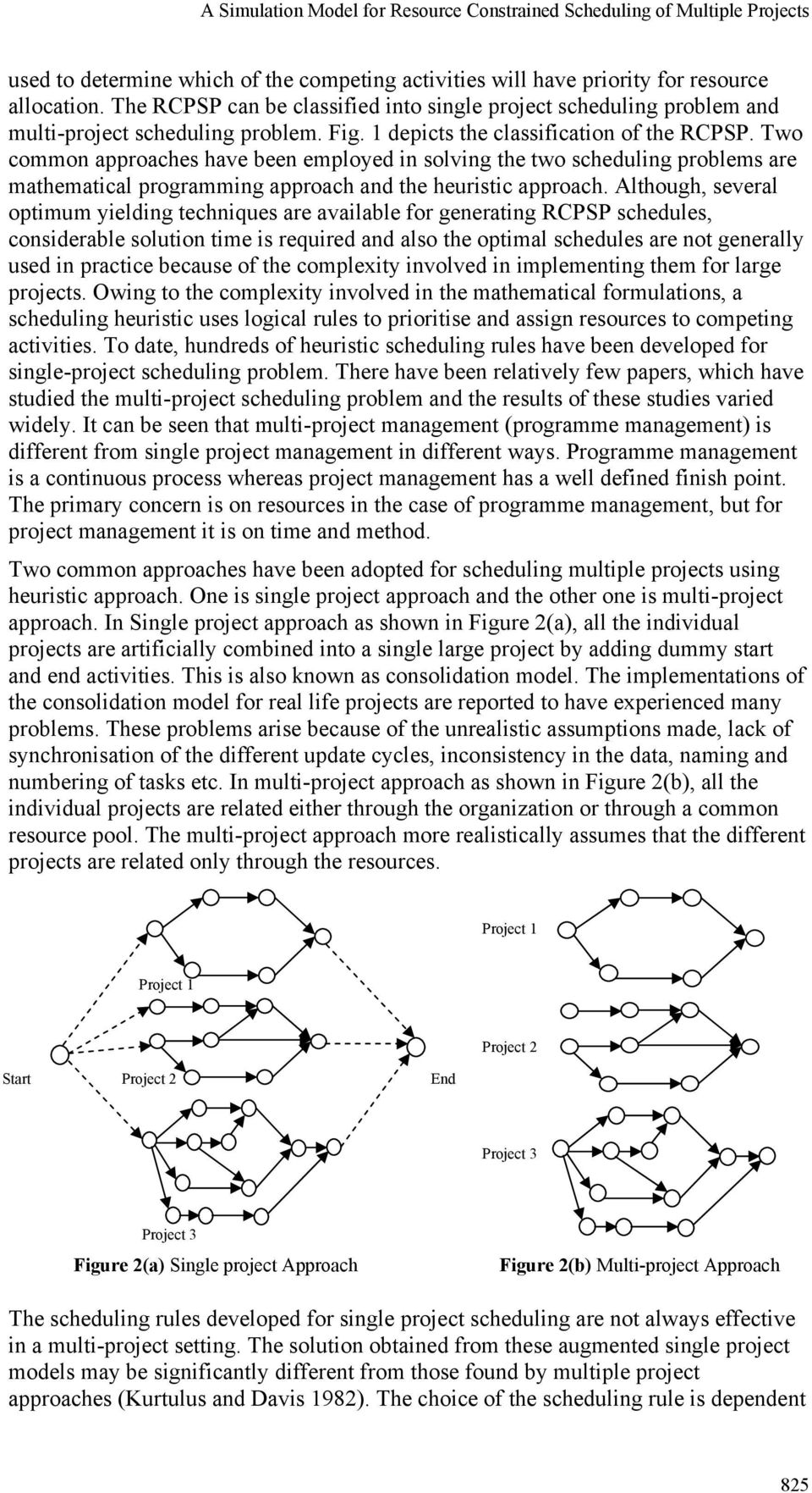 Two common approaches have been employed in solving the two scheduling problems are mathematical programming approach and the heuristic approach.