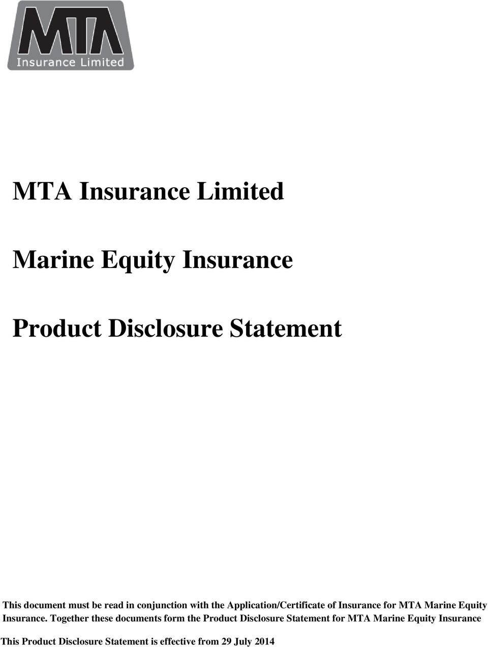 Equity Insurance.