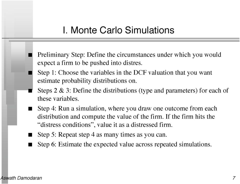 Steps 2 & 3: Defie the distributios (type ad parameters) for each of these variables.
