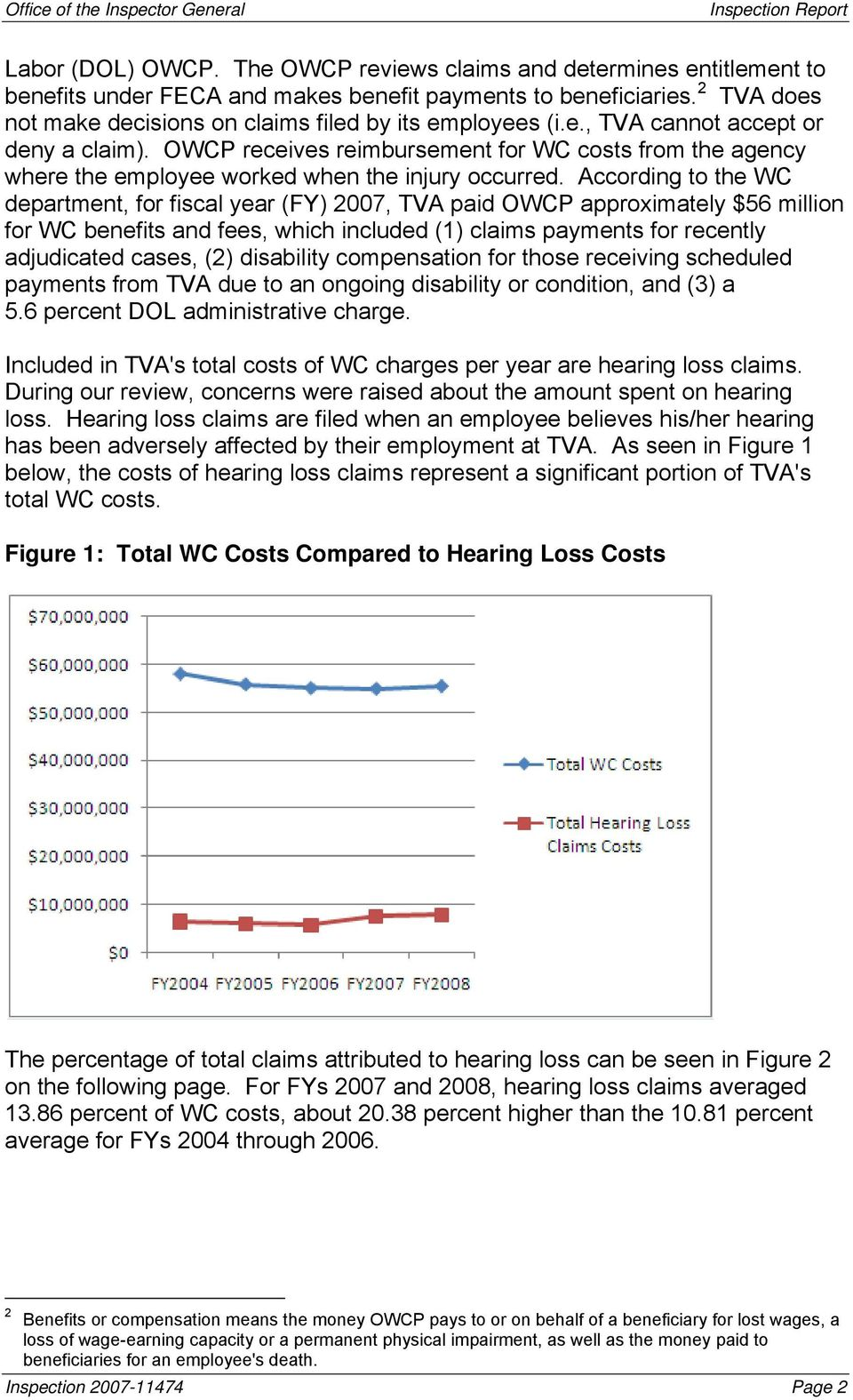 OWCP receives reimbursement for WC costs from the agency where the employee worked when the injury occurred.