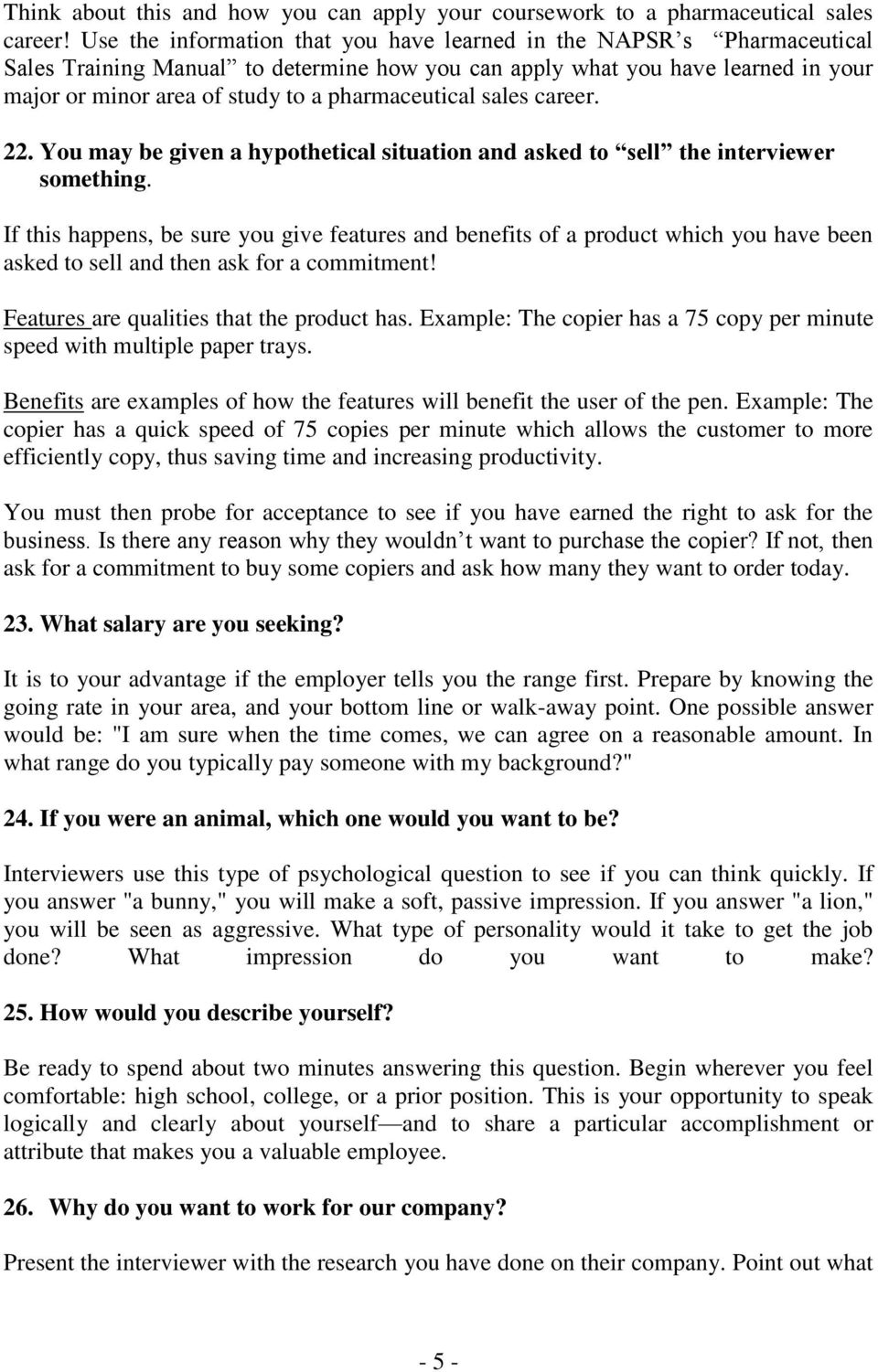 interview questions and answers pdf pharmaceutical s career 22 you be given a hypothetical situation and asked to