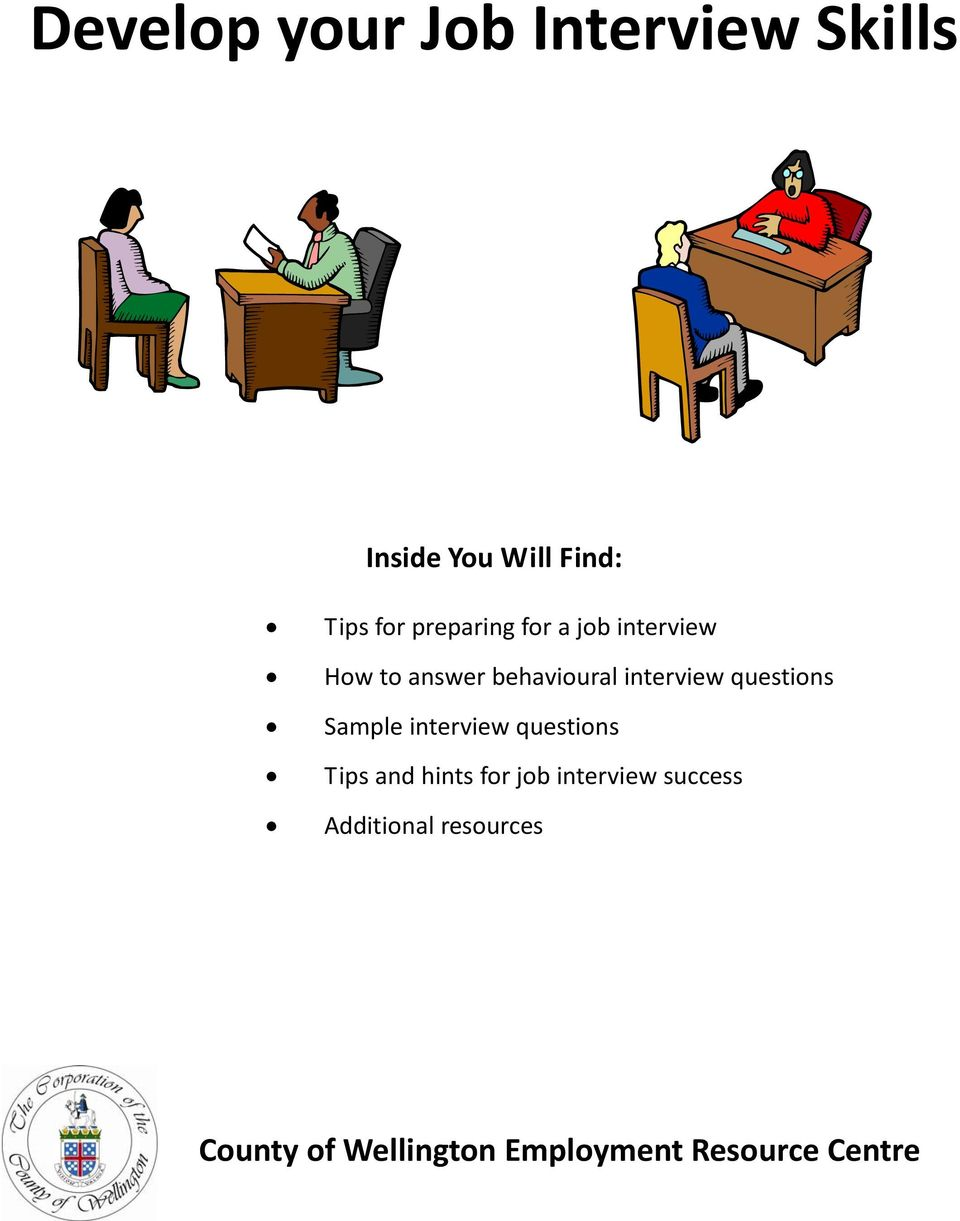 questions Sample interview questions Tips and hints for job interview