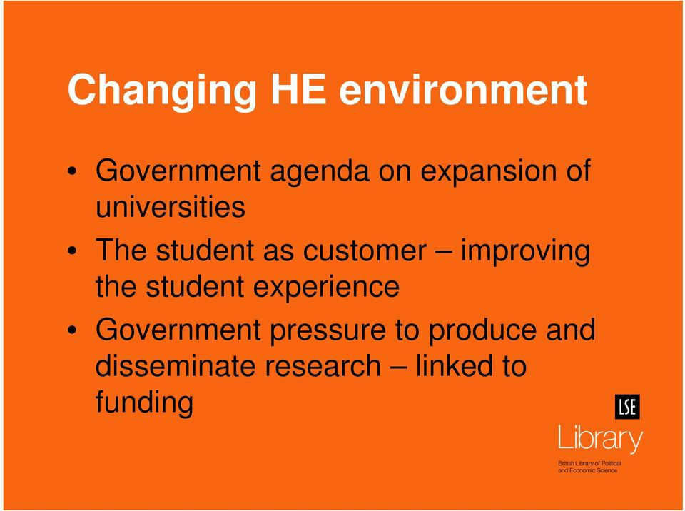 improving the student experience Government