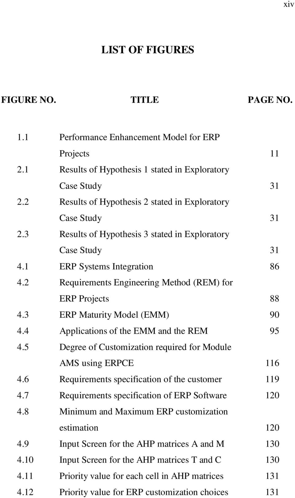 2 Requirements Engineering Method (REM) for ERP Projects 88 4.3 ERP Maturity Model (EMM) 90 4.4 Applications of the EMM and the REM 95 4.