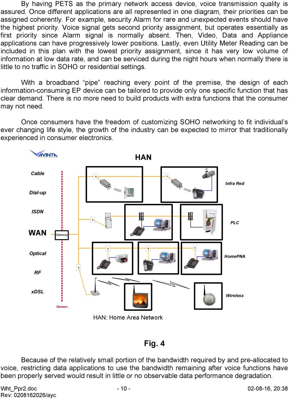 Avinta Communications Inc Soho Residential Networking Myth Poweroverethernet Poe On Industrialbased Fig 2 Voice Signal Gets Second Priority Assignment But Operates Essentially As First Since Alarm