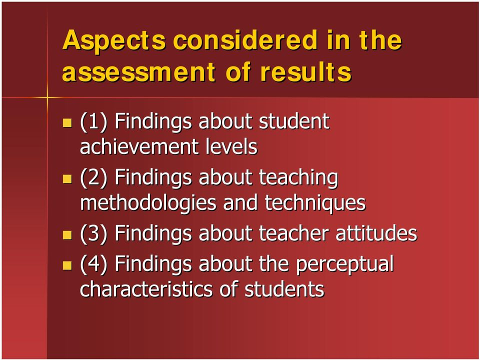 methodologies and techniques (3) Findings about teacher