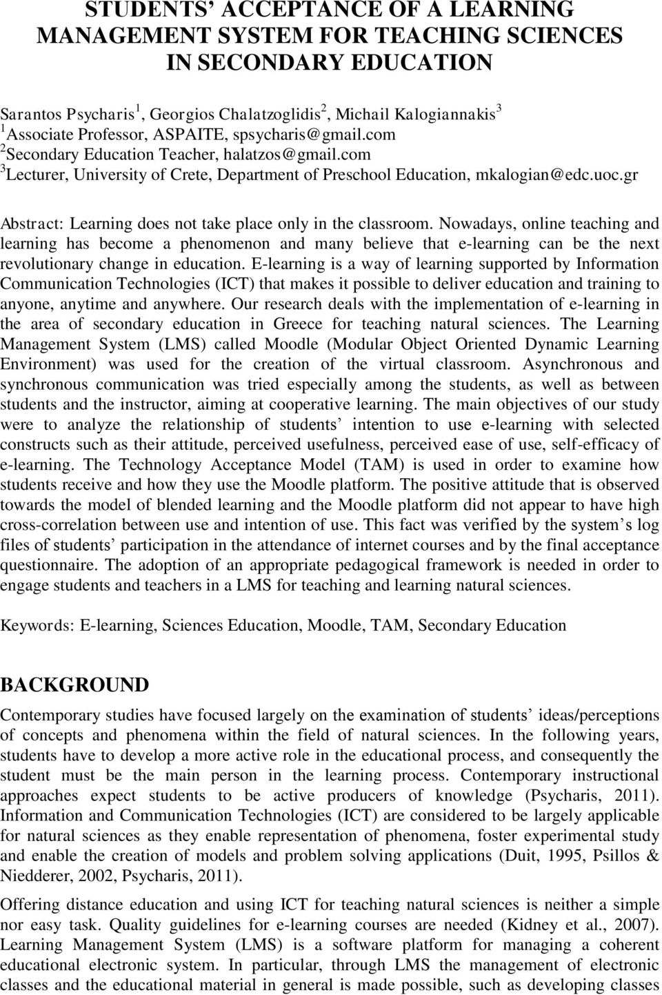 gr Abstract: Learning does not take place only in the classroom.
