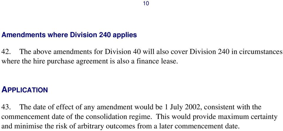 agreement is also a finance lease. APPLICATION 43.