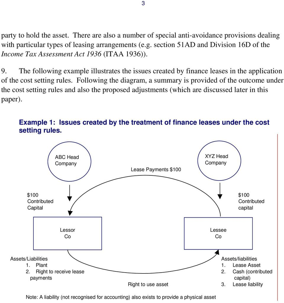 Following the diagram, a summary is provided of the outcome under the cost setting rules and also the proposed adjustments (which are discussed later in this paper).