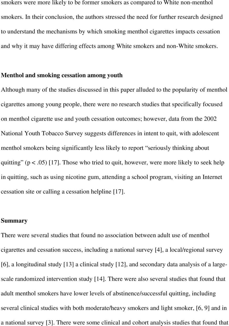 effects among White smokers and non-white smokers.