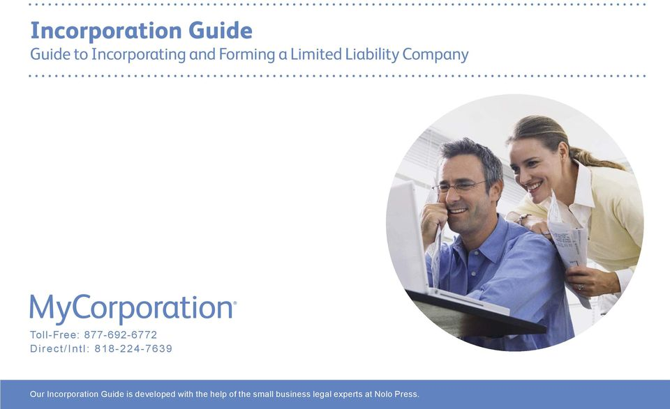 Direct/Intl: 818-224-7639 Our Incorporation Guide is