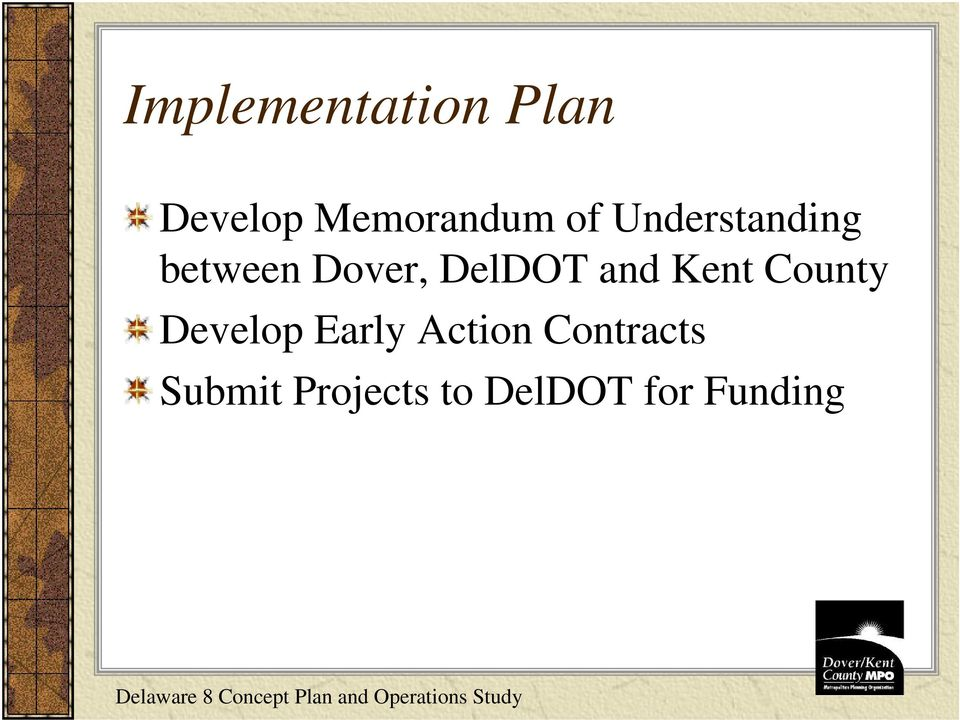and Kent County Develop Early Action