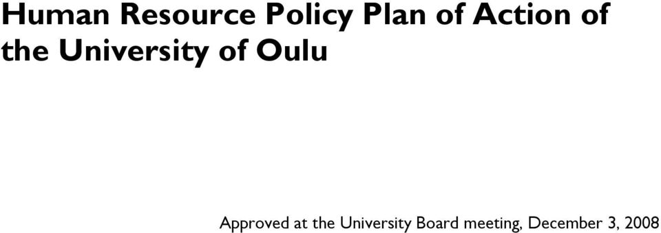 Oulu Approved at the