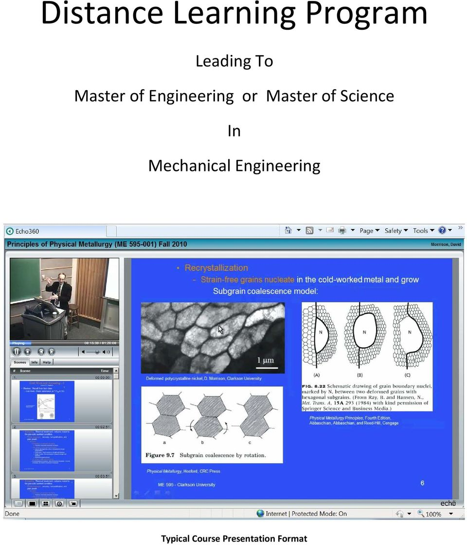 of Science In Mechanical