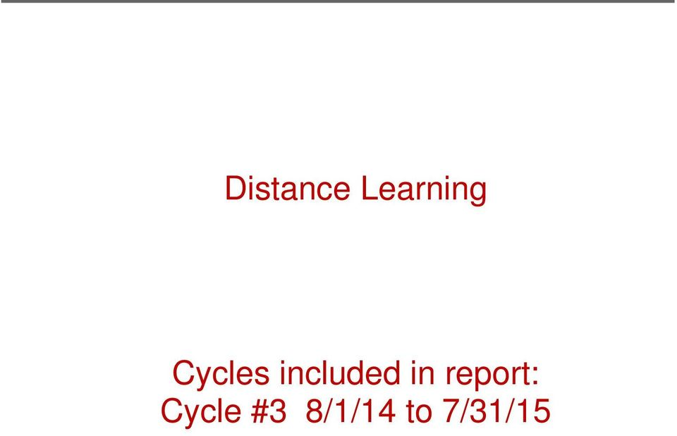 in report: Cycle