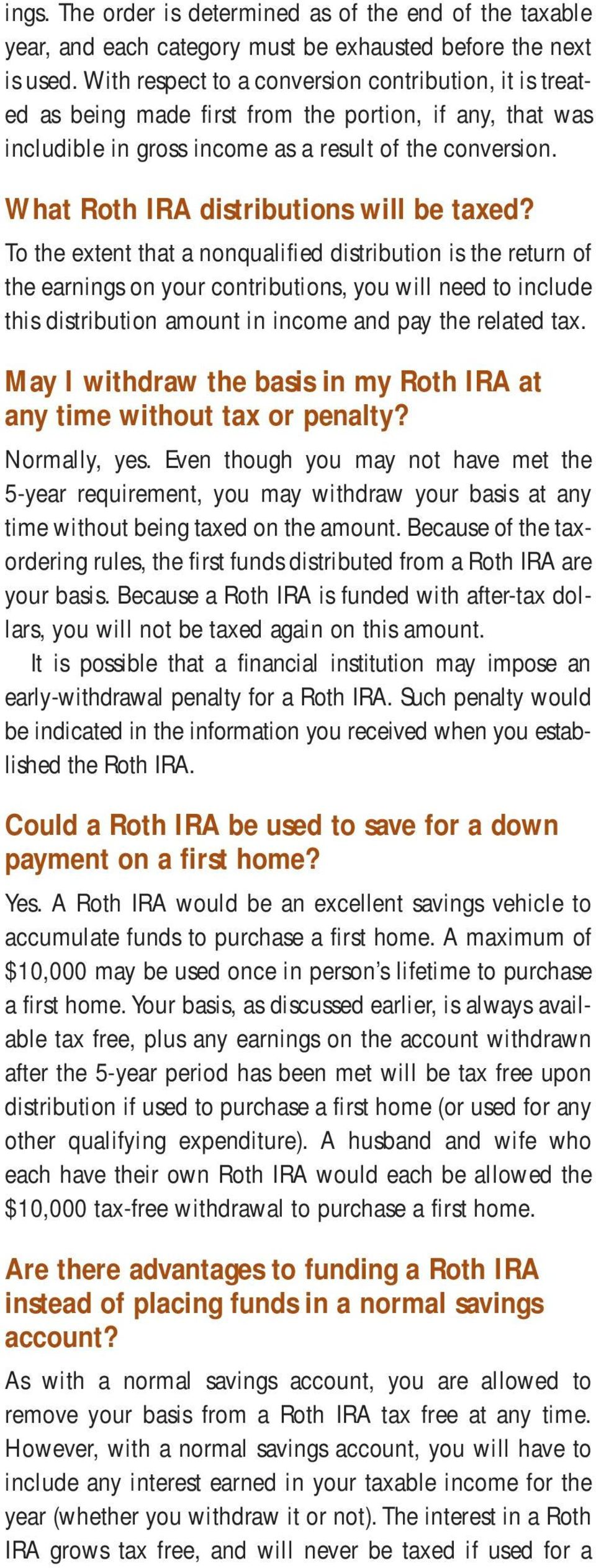 What Roth IRA distributions will be taxed?