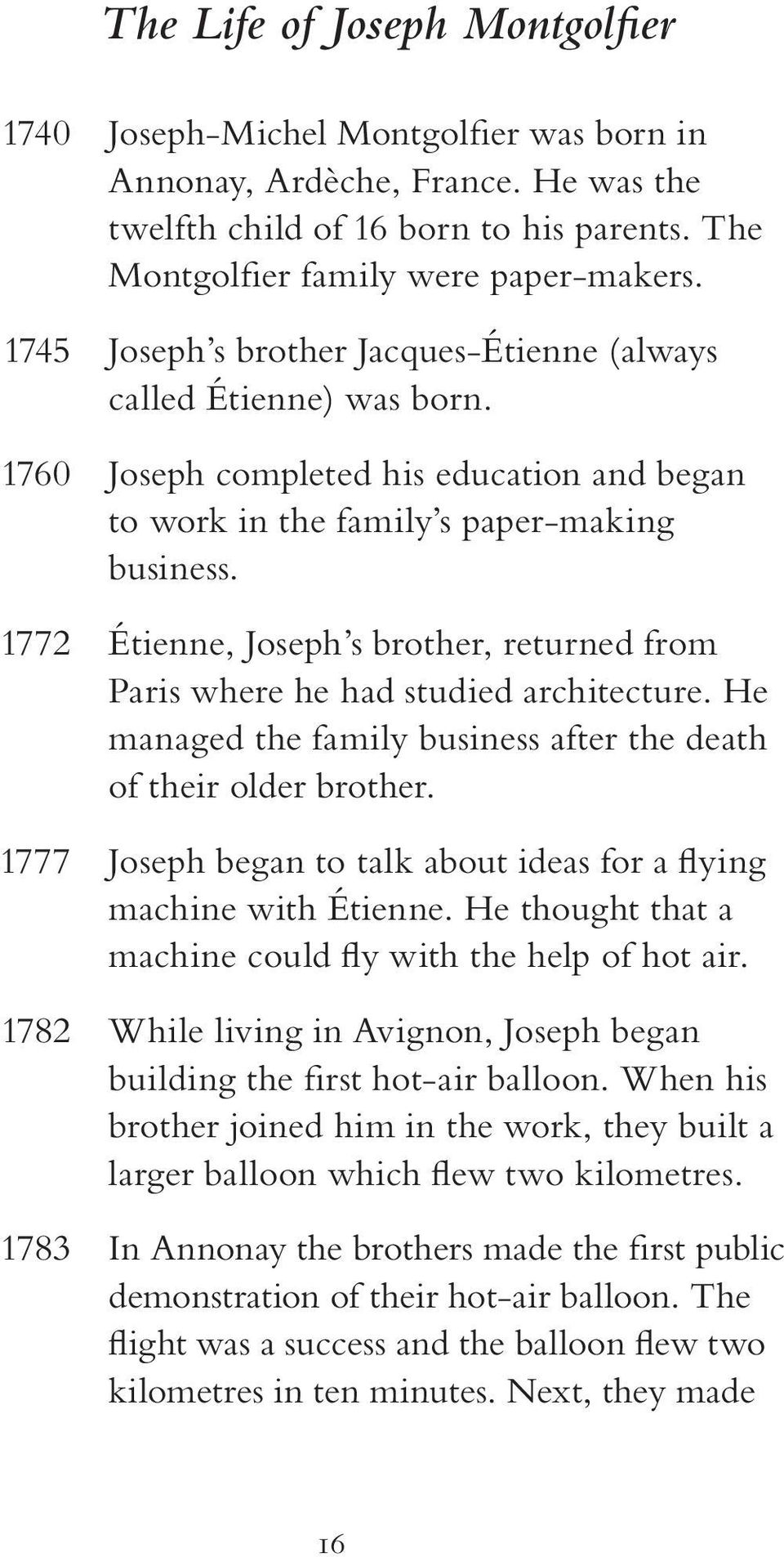 1772 Étienne, Joseph s brother, returned from Paris where he had studied architecture. He managed the family business after the death of their older brother.
