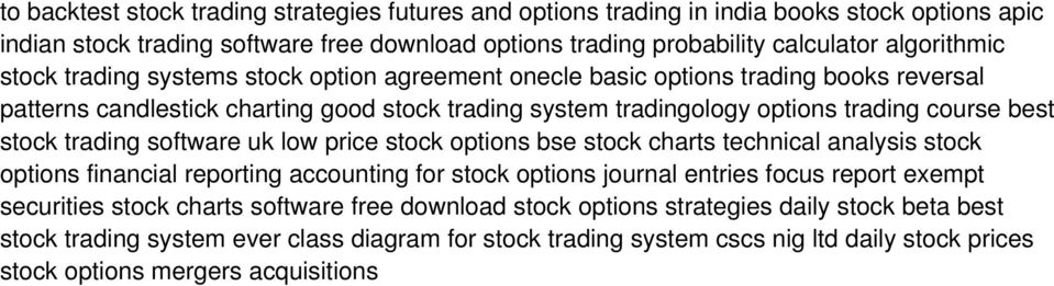 trading software uk low price stock options bse stock charts technical analysis stock options financial reporting accounting for stock options journal entries focus report exempt securities stock