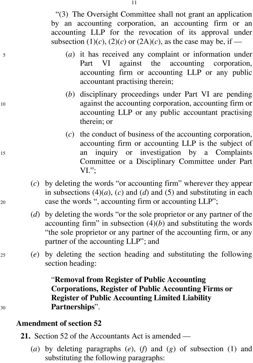 practising therein; (b) disciplinary proceedings under Part VI are pending against the accounting corporation, accounting firm or accounting LLP or any public accountant practising therein; or (c)