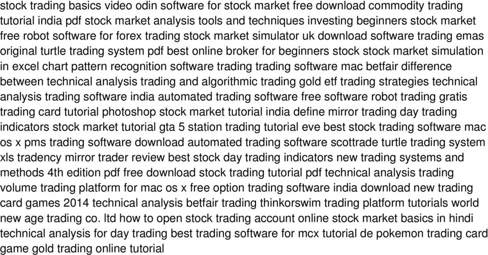 pattern recognition software trading trading software mac betfair difference between technical analysis trading and algorithmic trading gold etf trading strategies technical analysis trading software