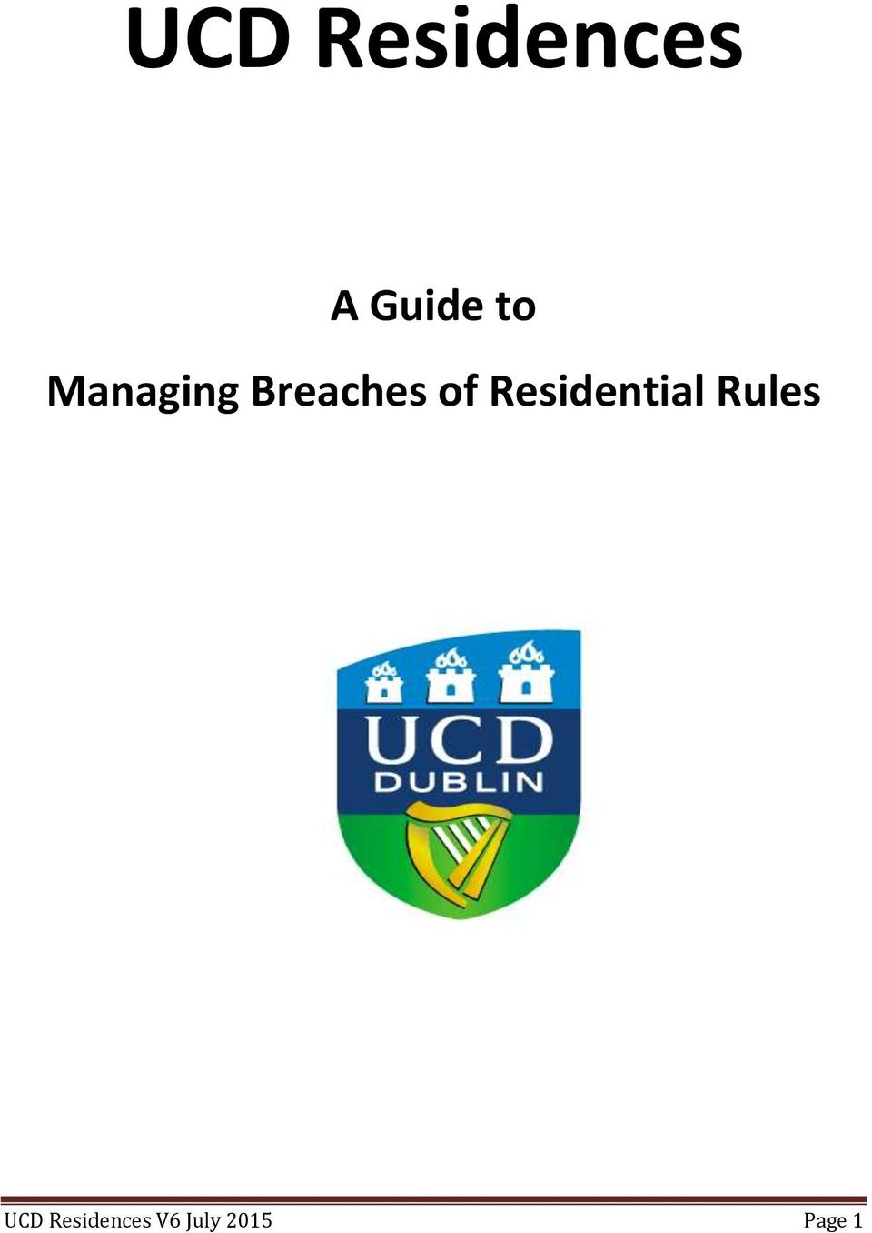 Residential Rules UCD