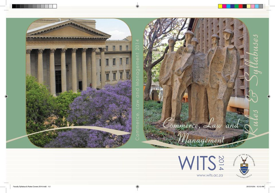 za OF T 2014 WITS Y UNIV Commerce, Law and Management 2014