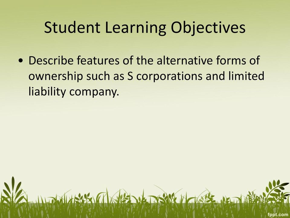 alternative forms of ownership