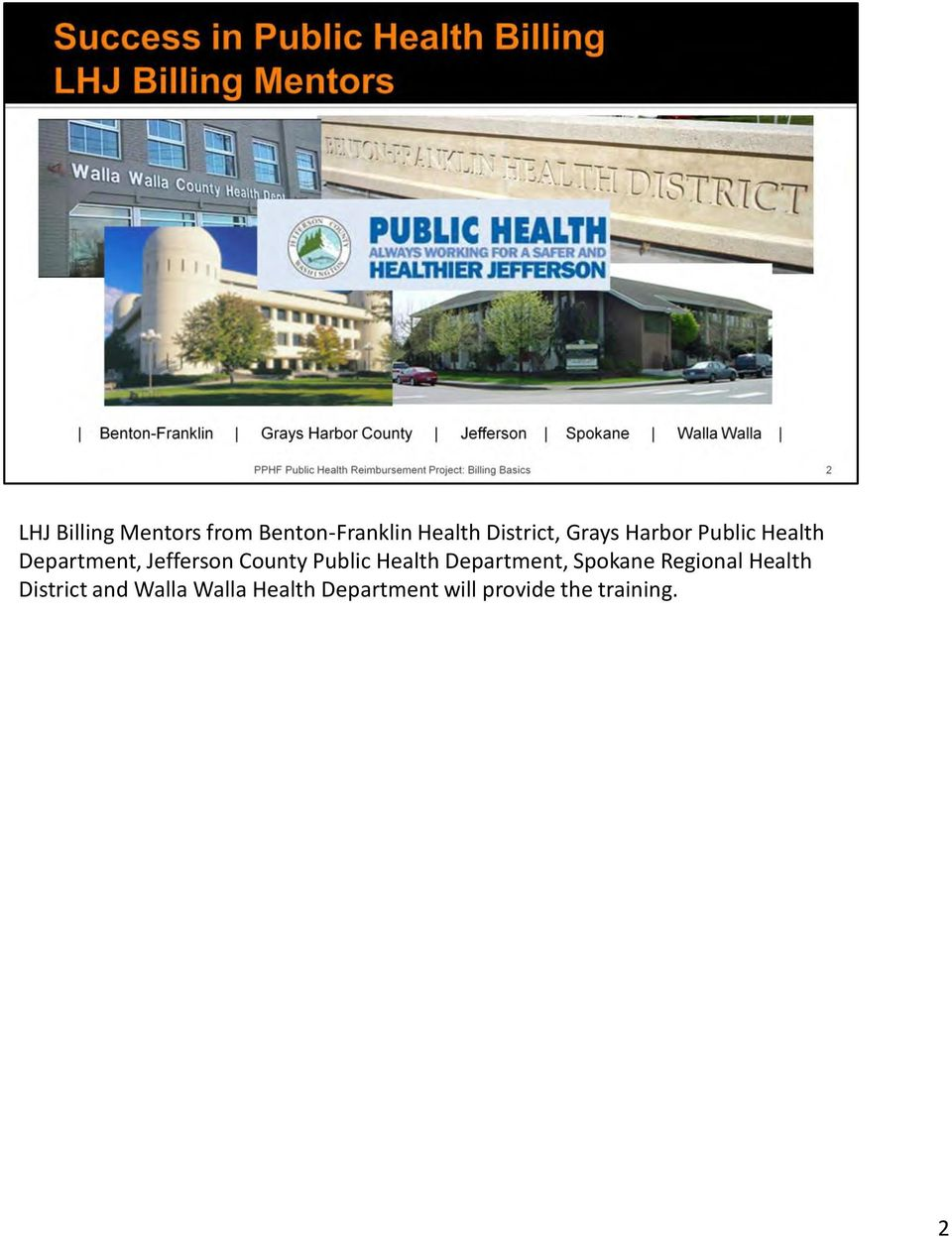 Public Health Department, Spokane Regional Health District