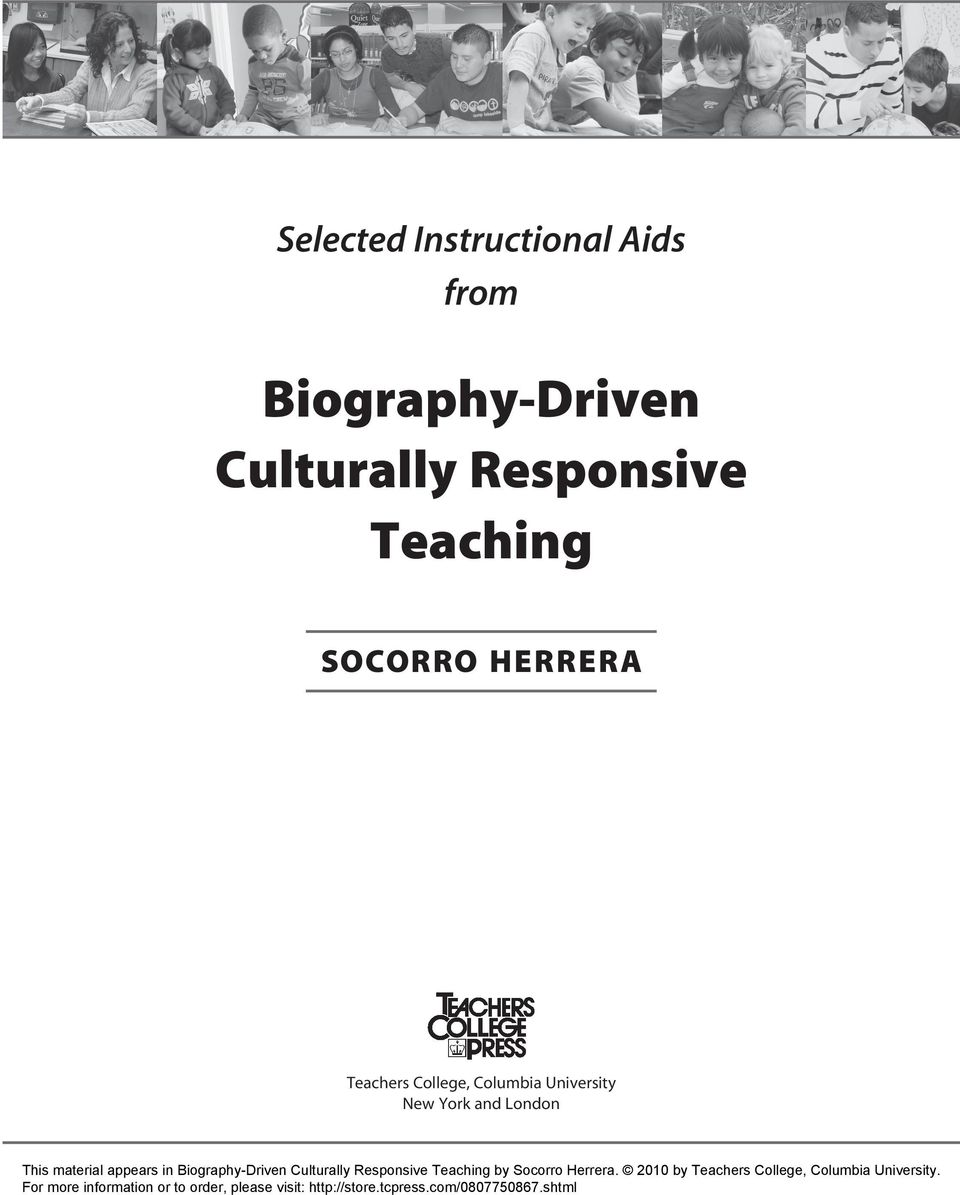 Biography-Driven Culturally Responsive Teaching by Socorro Herrera.
