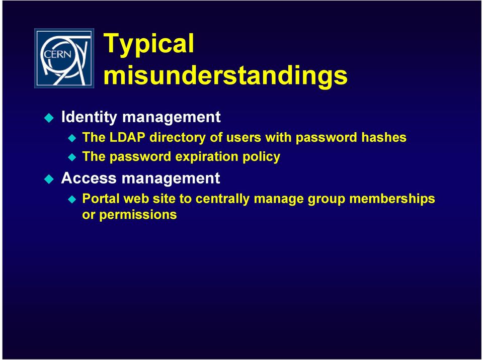 password expiration policy Access management Portal